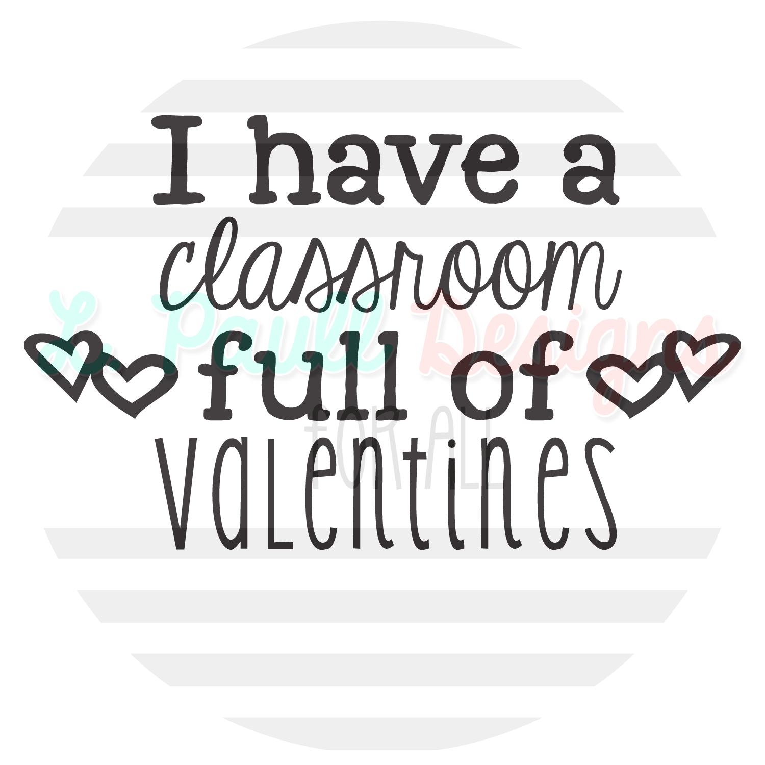 Classroom full of Valentines