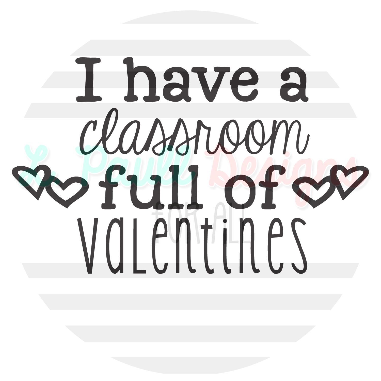 Classroom full of Valentines